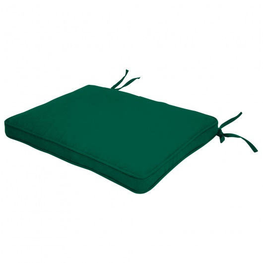 Square Back Sunbrella Seat Cushion with Box Double Welt