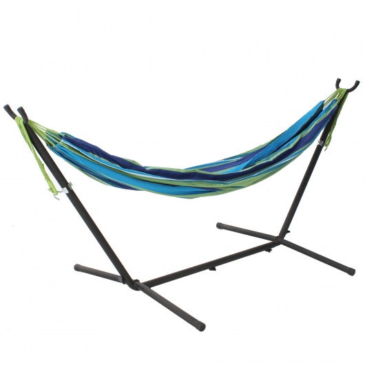 High Quality Small Free Standing 8 Ft. Adjustable Metal Hammock Stand   DISCONTINUED