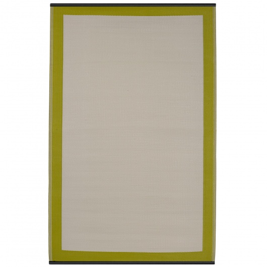 Skien Celery and White Outdoor Mat