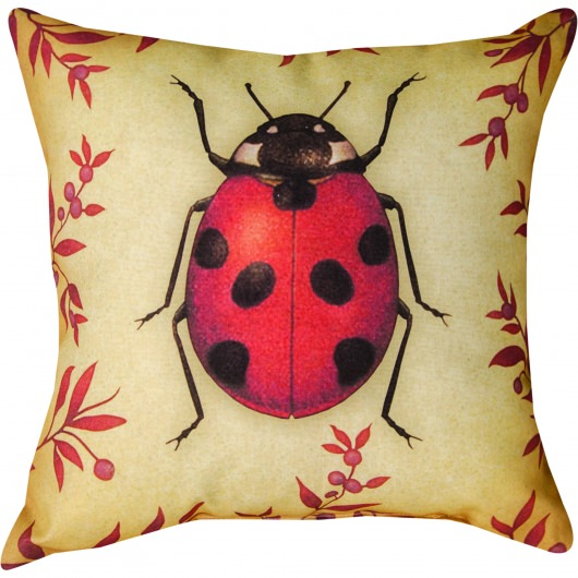 Insects Lady Bug Outdoor Pillow (18