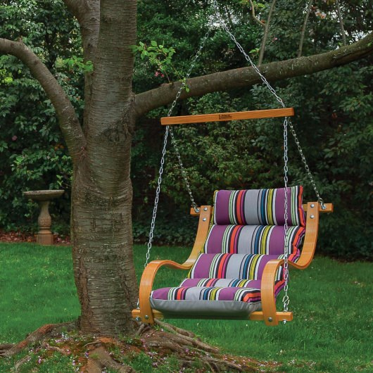 Single Swing With Oak Arms - Icon Mystique Stripe