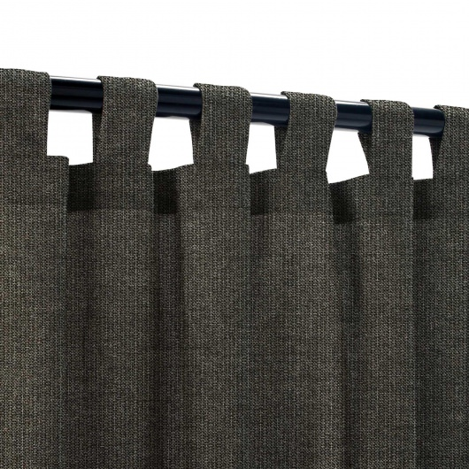Sunbrella Spectrum Carbon Outdoor Curtain with Tabs