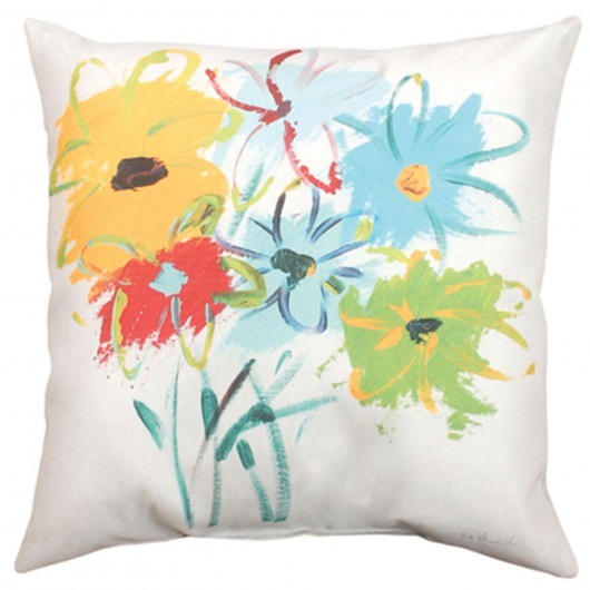 Dizzy Daisy Bouquet Outdoor Pillow