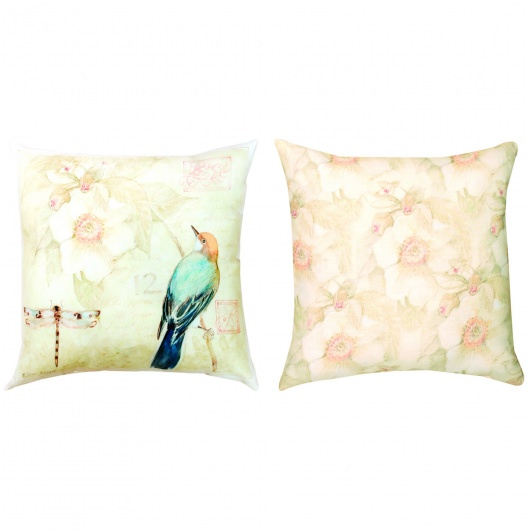 Nature's Sketchbook Green Outdoor Pillow (20