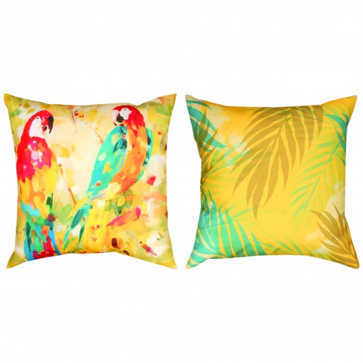 Polly's Parrot Duo II Outdoor Pillow (20
