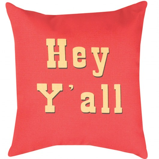 Star Patterns Hey Y'all  Outdoor Pillow (20