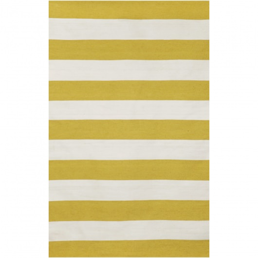 Sorrento Yellow Rugby Stripe Outdoor Rug
