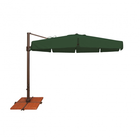 Bali 11' Octagon Solefin Cantilever Umbrella with Valance and Cross Base