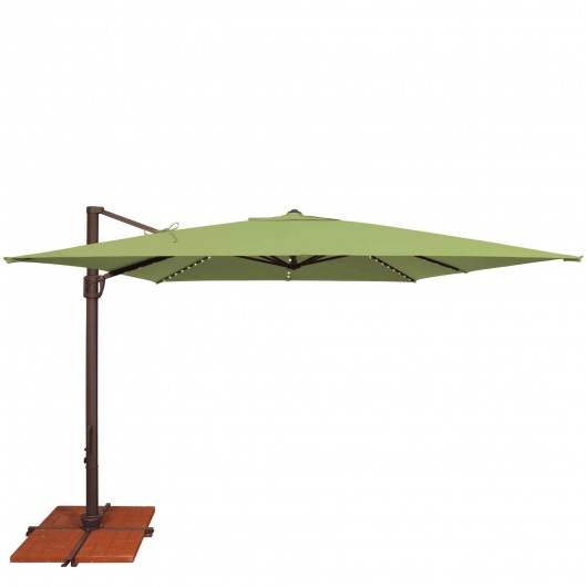 Bali Pro Umbrella 10 ft. wide with Starlights Includes Base-Choose a Color