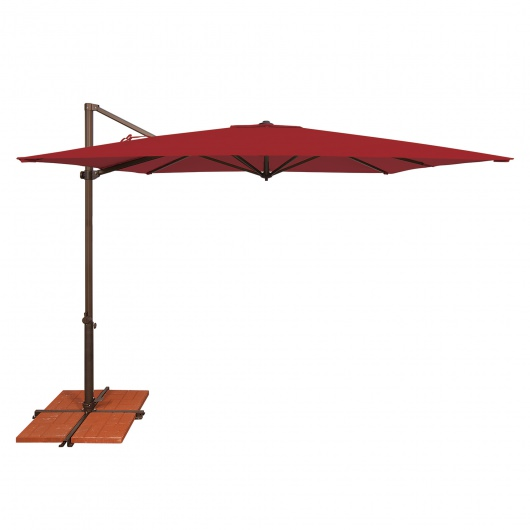 Skye 8.6' Square Solefin Cantilever Umbrella with Cross Base