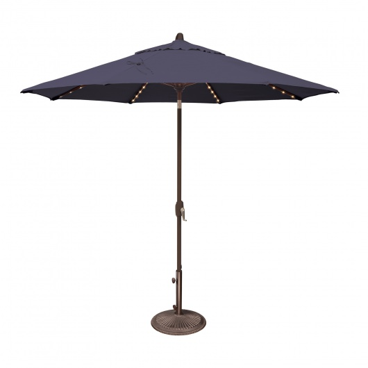 Lanai Pro 9' Octagon Sunbrella Market Umbrella with Star Lights