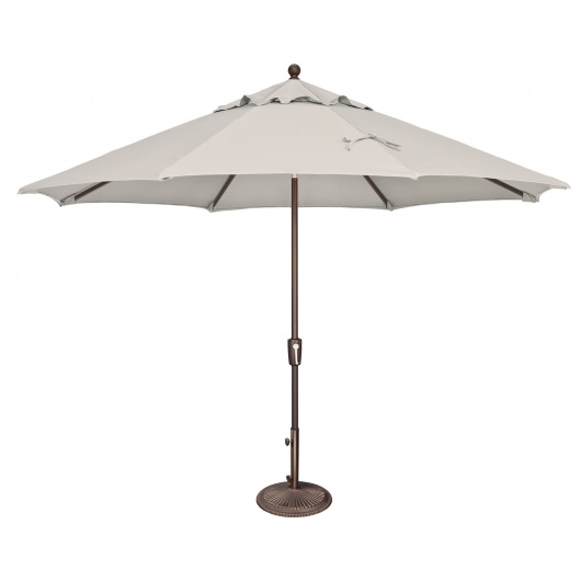 Catalina 11' Octagon Sunbrella Market Umbrella with Push Button Tilt