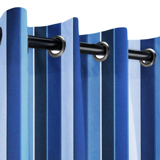 Sunbrella Milano Cobalt Outdoor Curtain