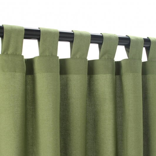 Sunbrella Spectrum Cilantro Outdoor Curtain with Tabs