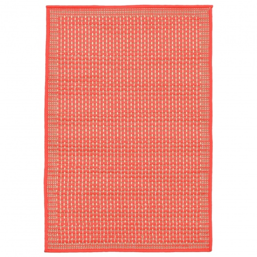 Terrace Texture Coral Outdoor Rug