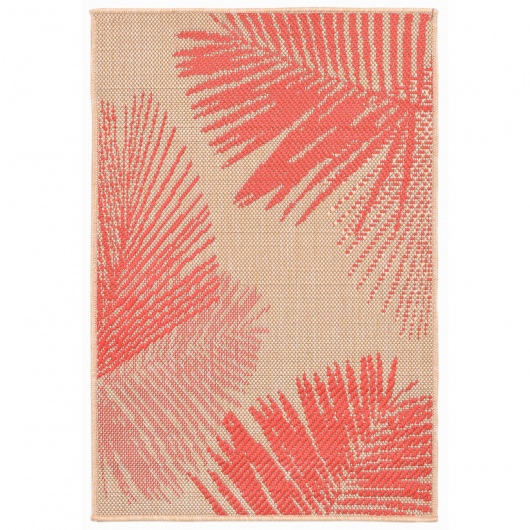 Terrace Palm Coral Outdoor Rug