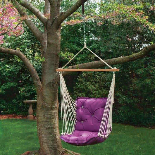 Tufted Single Swing Made with Sunbrella - Canvas Iris