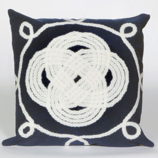 Visions II Ornamental Knot Navy