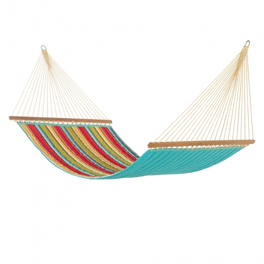 Westport Garden Large Quilted Hammock Made in USA with Reversible Sunbrella Fabric