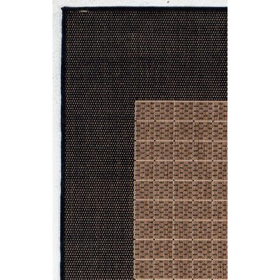 Recife Checkered Field Cocoa/Black Outdoor Rug (1 ft 8 in x 3 ft 7in)
