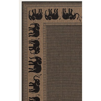 Recife Elephant Cocoa/Black Outdoor Rug