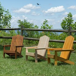 Hometown Cypress Folding Adirondack Chair