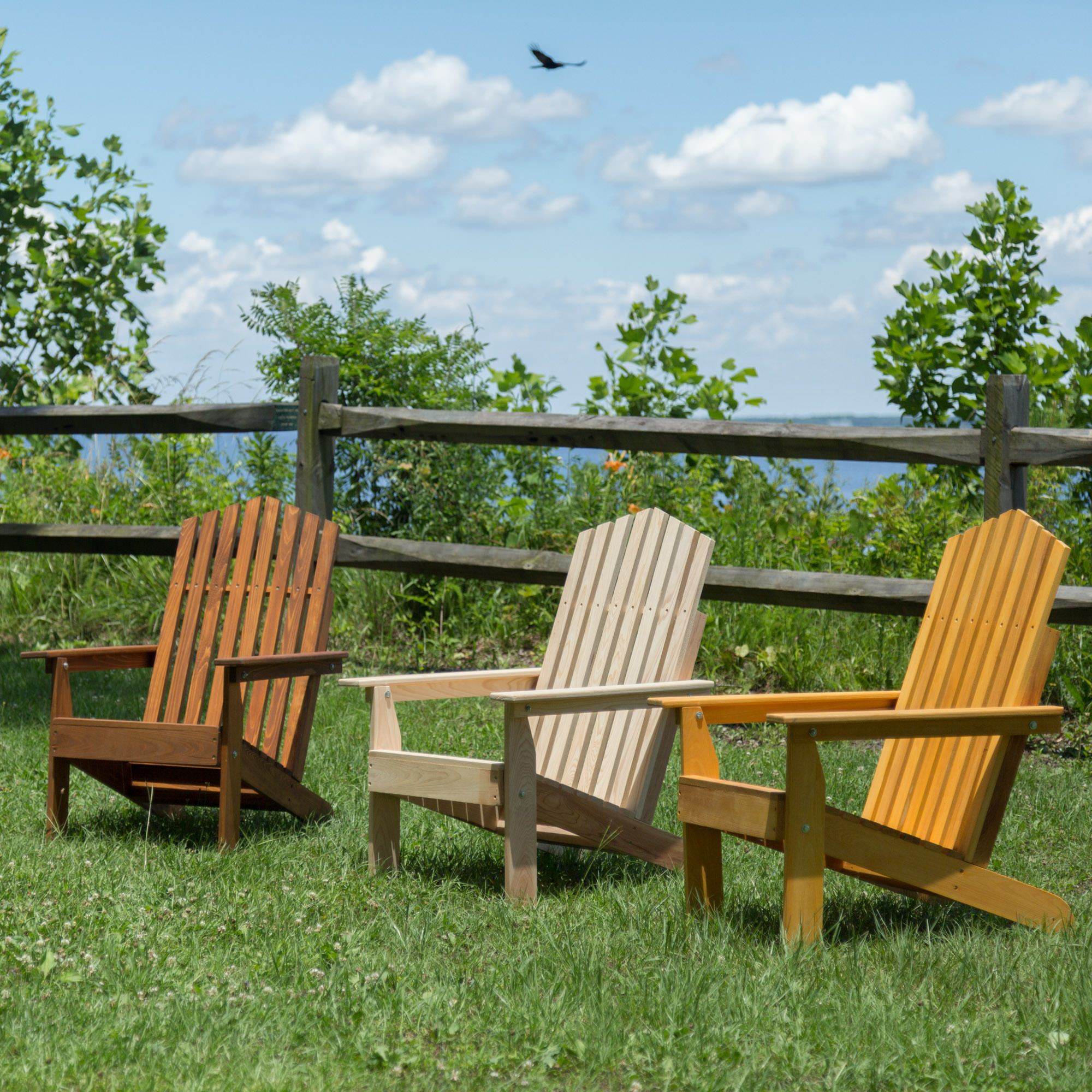 Beau Hometown Exclusive Cypress Folding Rustic Adirondack Chair