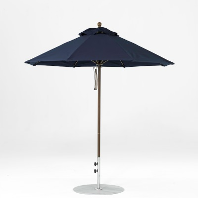 7.5 Ft. Pulley Lift Fiberglass Market Umbrella with Bronze Pole