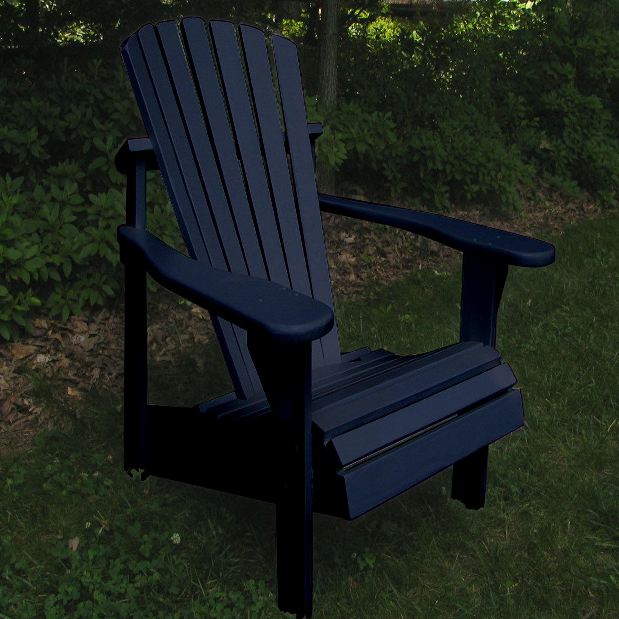 ... Set Of Adirondack Chairs With Cushions And Footrest ...