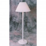 55 in Traditional Floor Lamp White Frame
