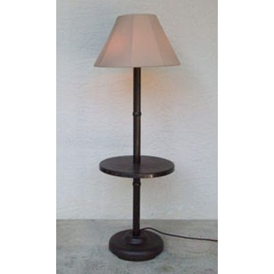 Traditional Floor Lamp Table with Bronze Frame