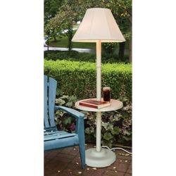 Traditional Floor Lamp  Indoor/Outdoor with White Frame
