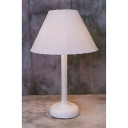 30 in Tall Traditional Table Lamp White Frame