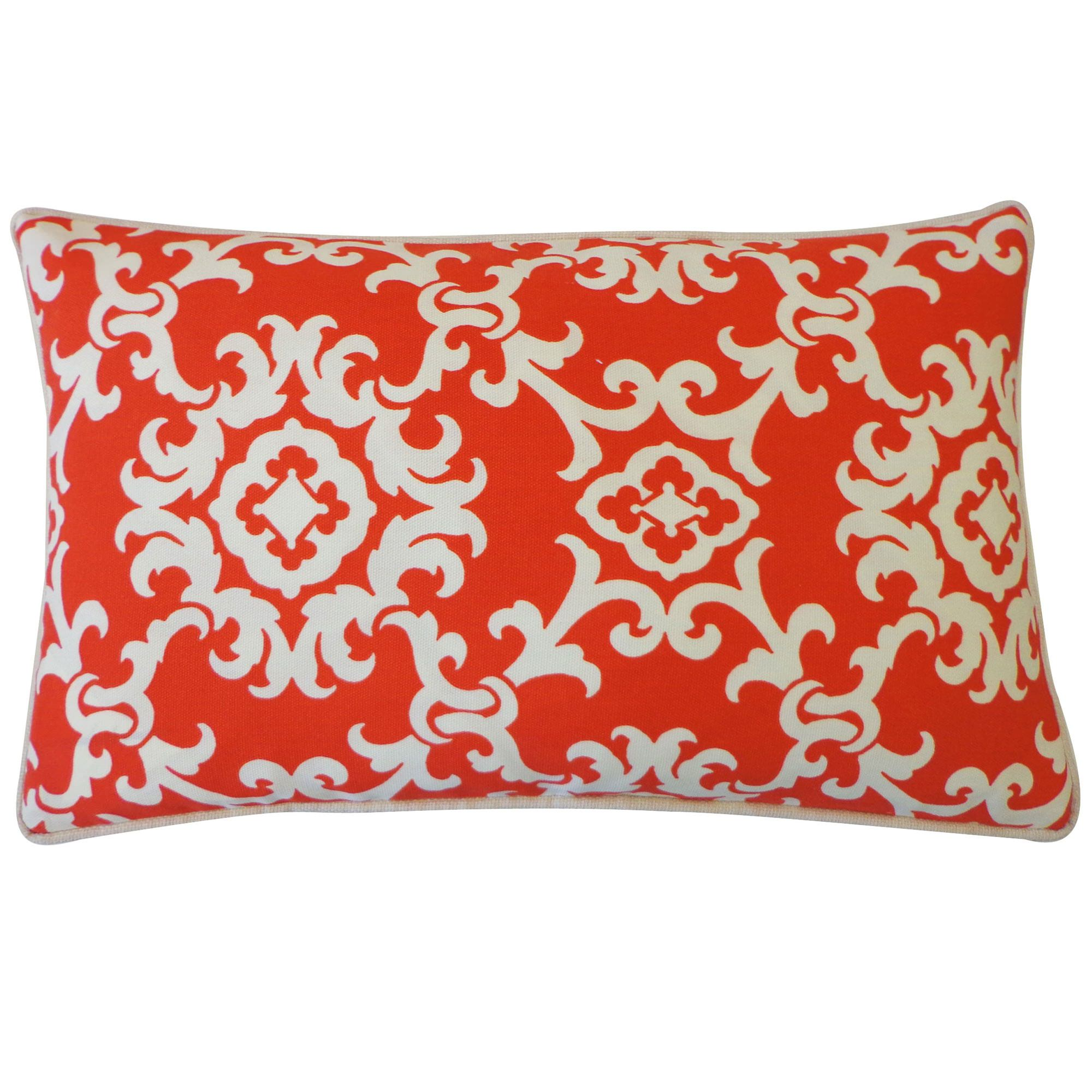 Wonderful 12in X 20in Alvin Red Outdoor Pillow