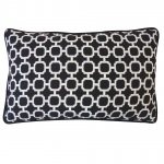 12in x 20in Blocks Black Outdoor Pillow