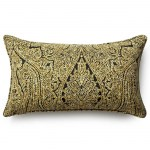 12in x 20in Ebony Paisley Outdoor Pillow