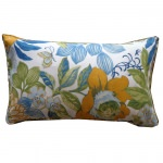 12in x 20in Suave Floral Outdoor Throw Pillow