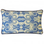 12in x 20in Blue Iron Outdoor Pillow