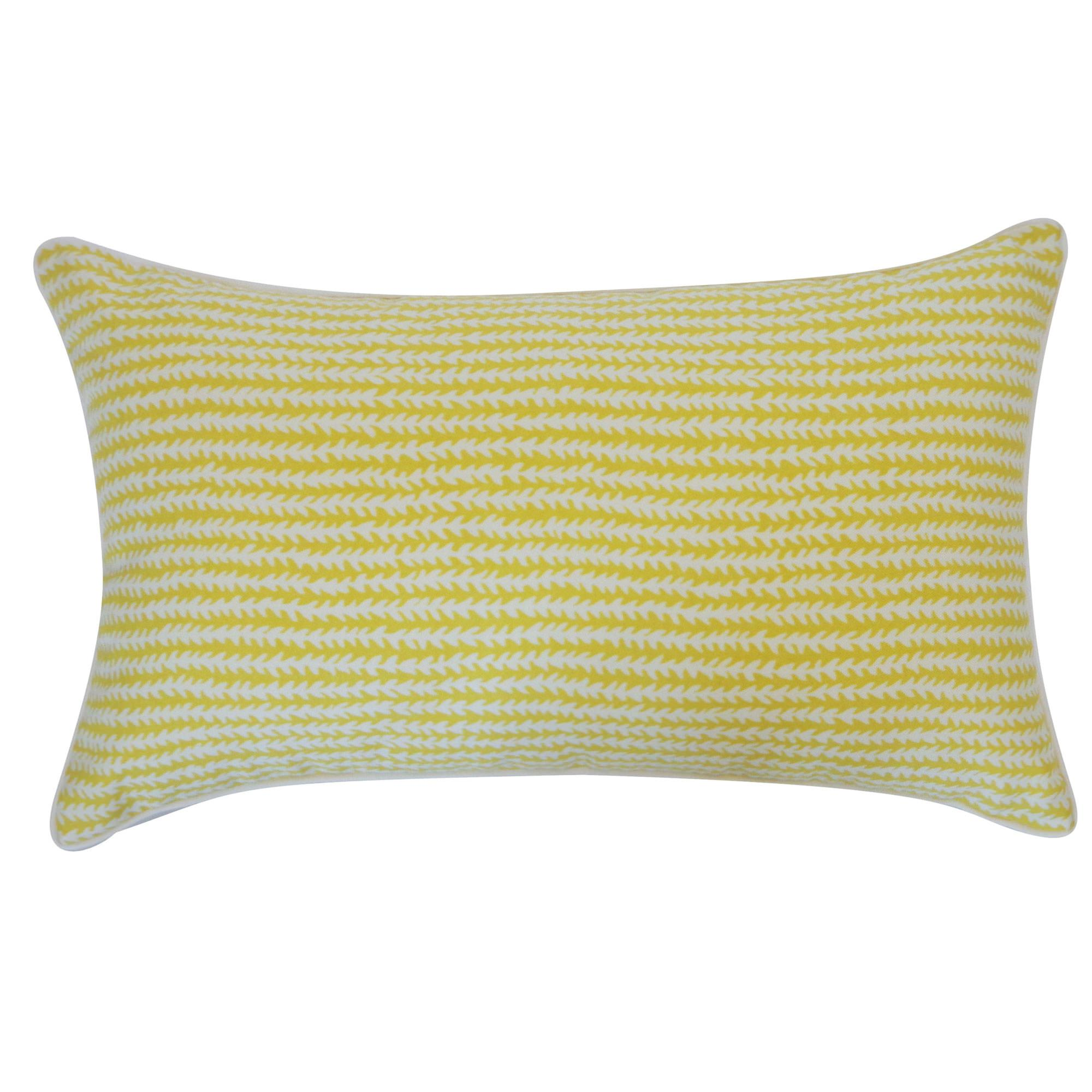 Throw Pillows 20 X 12 Yellow : 12in x 20in Yellow Stitches Outdoor Throw Pillow DFOHome