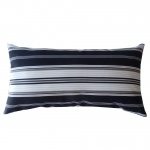 12in x 22in Black/White Down The Lane Outdoor Pillow