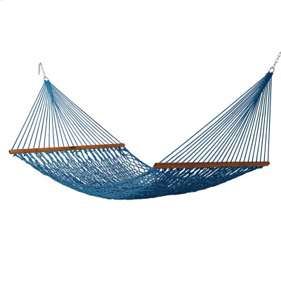 Deluxe Original DuraCord Rope Hammock - Coastal Blue