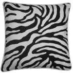 20in x 20in Desert River Black Outdoor Pillow