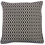 20in x 20in Black Grid Outdoor Throw Pillow