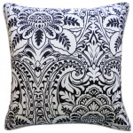 20in x 20in Black Bouquet Outdoor Throw Pillow