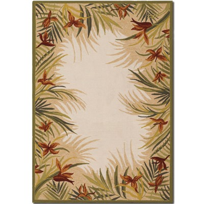 Covington Tropic Gardens Sand Outdoor Rug