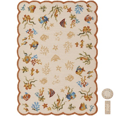 Outdoor Escape Coral Dive Sand Outdoor Rug