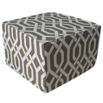 Brown Fork Outdoor Ottoman
