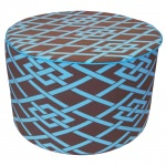 Point Brown Round Outdoor Ottoman