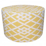 Point Yellow Round Outdoor Ottoman