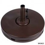 20 in. Wide Round Umbrella Base Available in 3 Colors- Bronze-Black-White